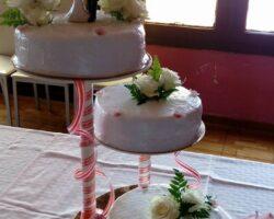 tarta de boda 3 pisos separados