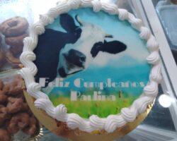 tarta de cumpleaños con oblea
