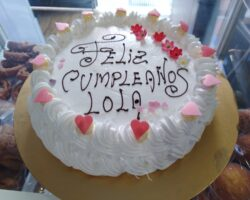 tarta de cumpleaños merengue