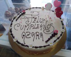 tarta de cumpleaños tres chocolates