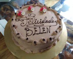 tarta de cumpleaños trufa